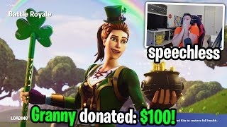 I got donated to by a Grandma Fortnite Streamer... it made my day!
