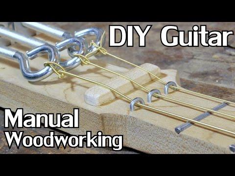 Extended Cut: Building a Cigar Box Guitar w/Hand Tools [No Dialogue] - NightHawkInLight