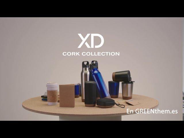 Colección de regalos corporativos de corcho natural.
