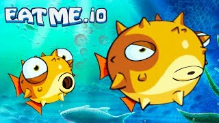 EAT ME #3 New fish - THORN! Cartoon game for kids EATME.IO similar to CLISERIO