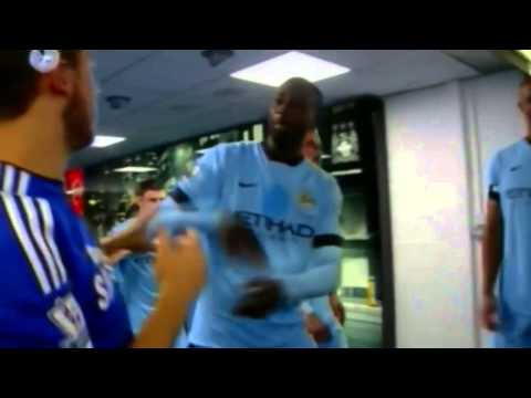 Yaya toure Slaps Hazard in the tunnel