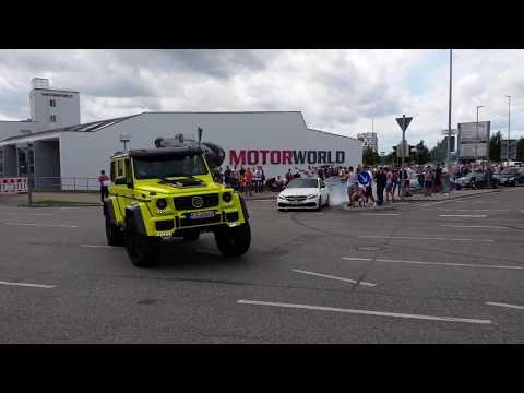 AMG meets Motorworld Böblingen  2k17 Burnout - Donut - Revs - Drifts