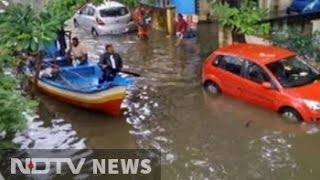 Boats out on the streets as heavy rain pounds Chennai