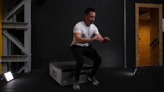 Box Squat Backwards Jump Box
