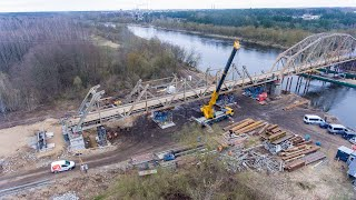 Rozbiórka mostu kolejowego