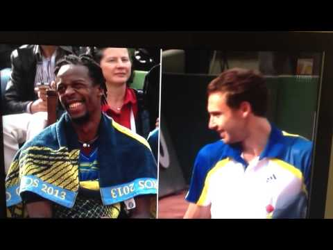 Gael Monfils and Ernests Gulbis get giggly