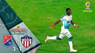 Medellín vs Junior resumen y goles del partido 3-1 Final-vuelta Liga Águila 2018 II Junior campeón