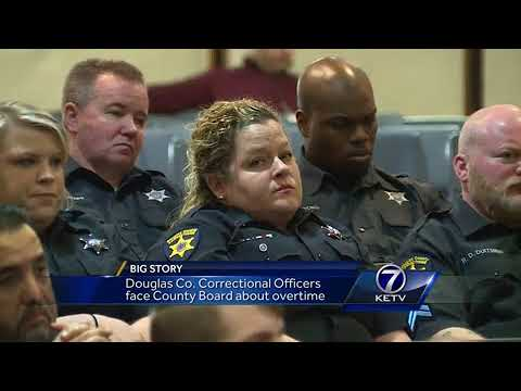 Douglas County Correctional Officers face county board above overtime