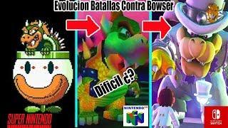 la Evolucion de las Batallas Contra Bowser en Videojuegos de Mario Bros (Nes a Nintendo Switch)