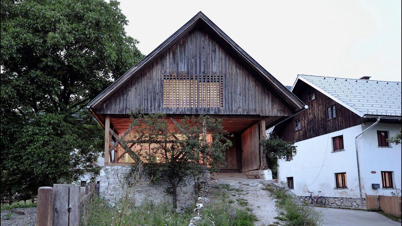 OFIS Arhitekti\'s Alpine Barn Apartment - YouTube