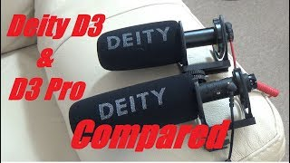Deity V-Mic D3 and D3 Pro Compared Directly With Each Other
