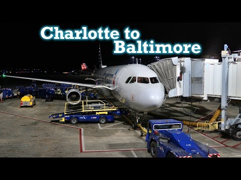 Full Flight: American Airlines A321 Charlotte To Baltimore (CLT-BWI)