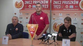 Znicz Pruszków - Olimpia Elbląg (pomeczowa konferencja)