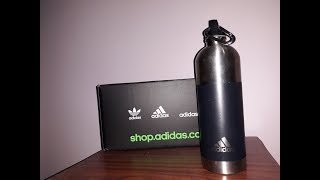 adidas Trainning Water Bottle - QUICK UNBOXING & TESTING REVIEW