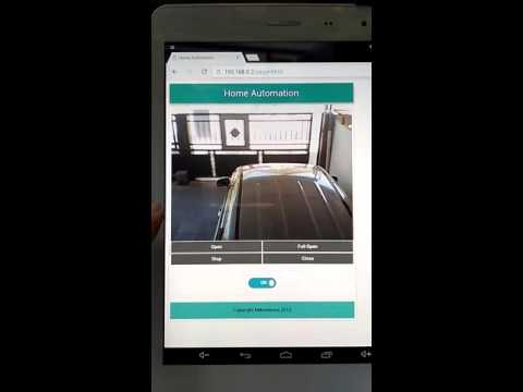 Test run auto gate controlled with Esp8266 & webcam on Openwrt