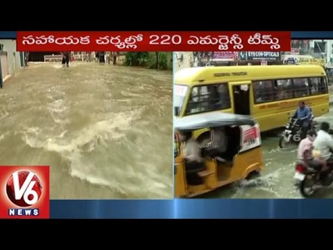 People Facing Problems With Floods Due To Heavy Rains | Nizampet Colony | Hyderabad | V6 News