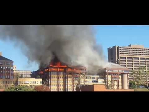 Office Park Catches Fire! Johannesburg CBD