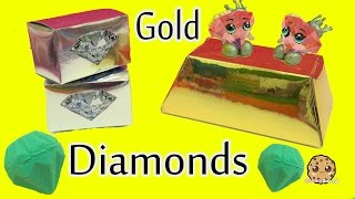 Super Gold Dig It Surprise Digging Gold Bar + Diamonds In Water with My Little Pony Rainbow Dash