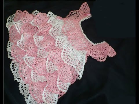 How to crochet| a baby dress / Tutorial: Crochet Baby Dress all parts with volume 2403