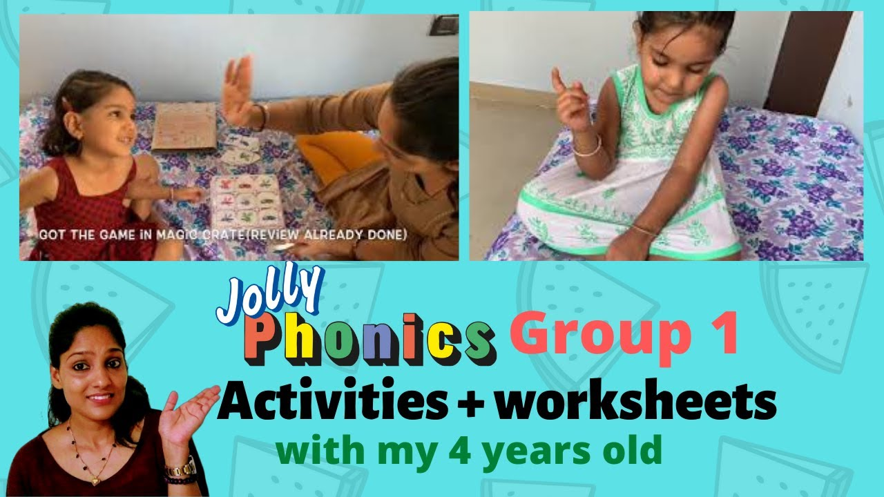 Jolly Phonics Group 1 Writing Work Worksheets Activities With A 4 Year Old Satpin Phonics Youtube
