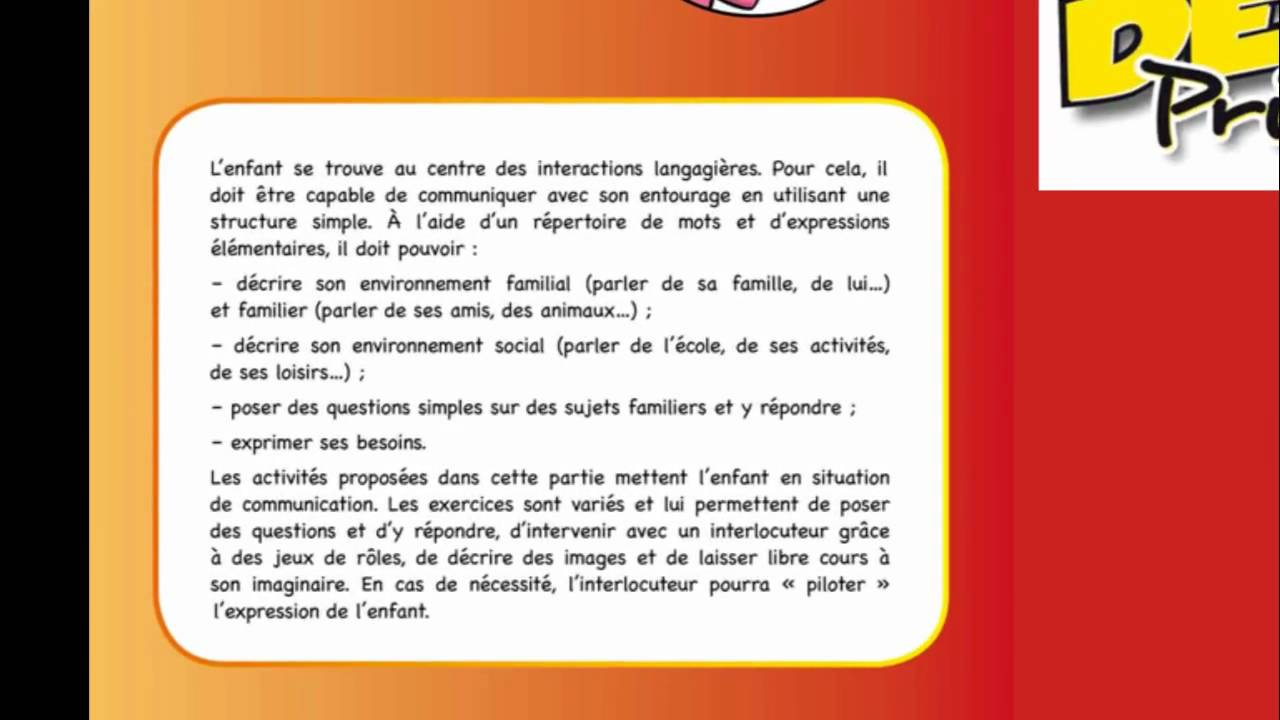 Télécharger exemple de sujet delf scolaire a2 PDF | monologue suivi