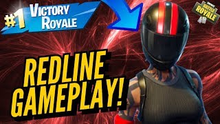 REDLINE Skin Gameplay! In Fortnite Battle Royale..