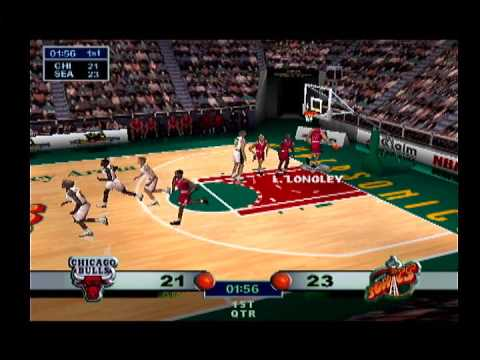 NBA Jam '99 - Seattle Supersonics vs Chicago Bulls Full Exhibition Game (N64/Hardware)