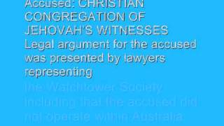 Official JWNEWS - Second Court Hearing For The WatchTower Scoiety In Australia