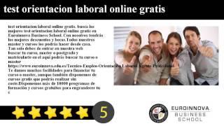 test orientacion laboral online gratis