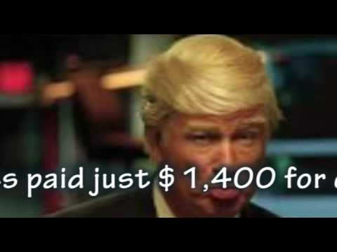 Alec Baldwin gets paid $1,400 every time he plays Trump on 'SNL'