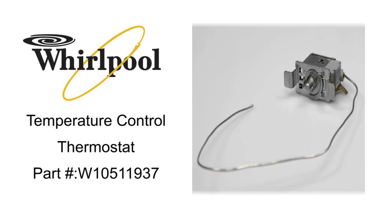 Whirlpool W10511937 Temperature Control Thermostat Gray Industrial ...
