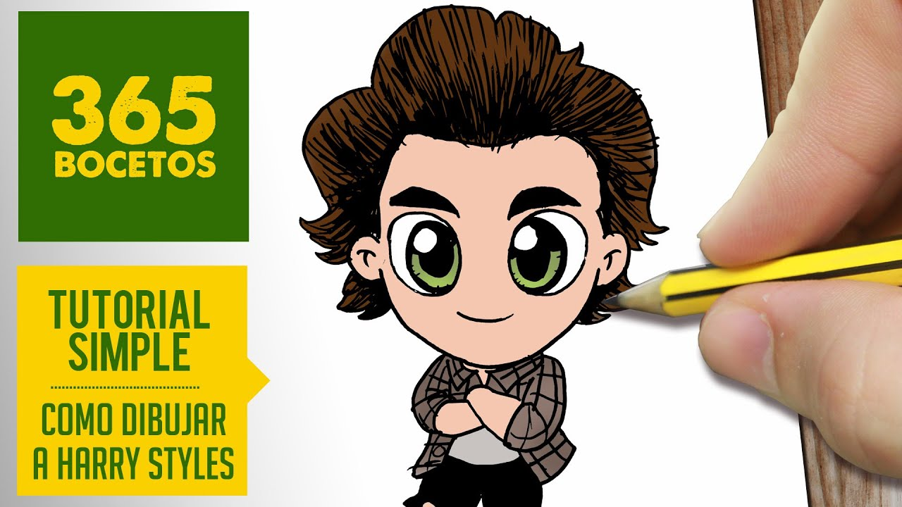 Como Dibujar A Harry Styles De One Direction Dibujos Kawaii Faciles How To Draw One Direction Youtube
