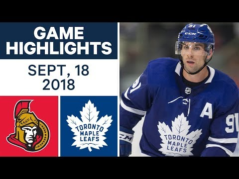 NHL Pre-season Highlights | Senators vs. Maple Leafs - Sept. 18, 2018