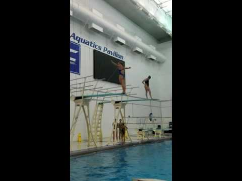 Diver Abby Johnston practices ahead of Rio Olympics