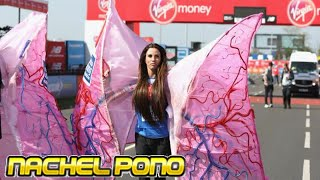 Katie Price dresses as a pair of lungs at London Marathon 2018