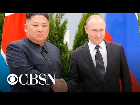 Kim Jong Un meets Vladimir Putin in Russia