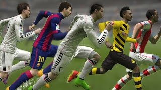 FIFA 15 Speed Test | Fastest Players in Fifa 15