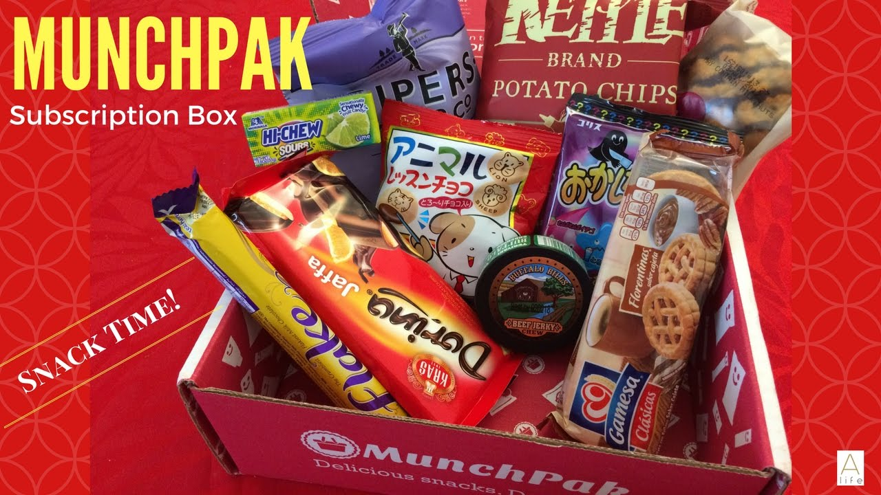 Munchpak Monthly Snack Subscription Box Unboxing