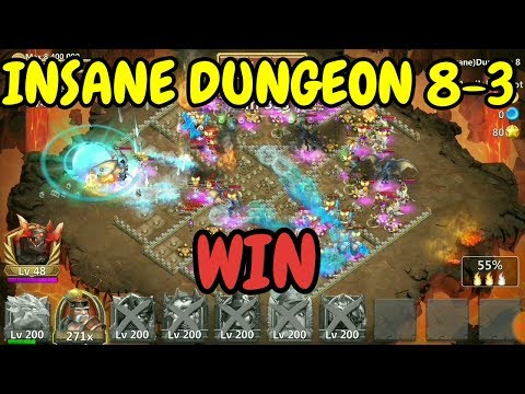 How To Beat Insane Dungeon 8-3 L Insane Dungeon 8-3 Win I Castle Clash