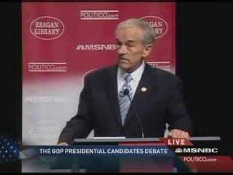 Congressman Ron Paul at the First GOP Presidential Debate