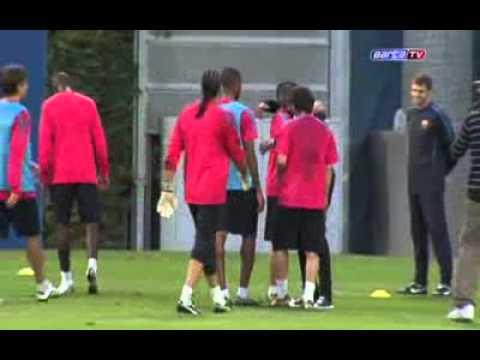 Eto o Guardiola  el abrazo de la paz   SPORT   Barça