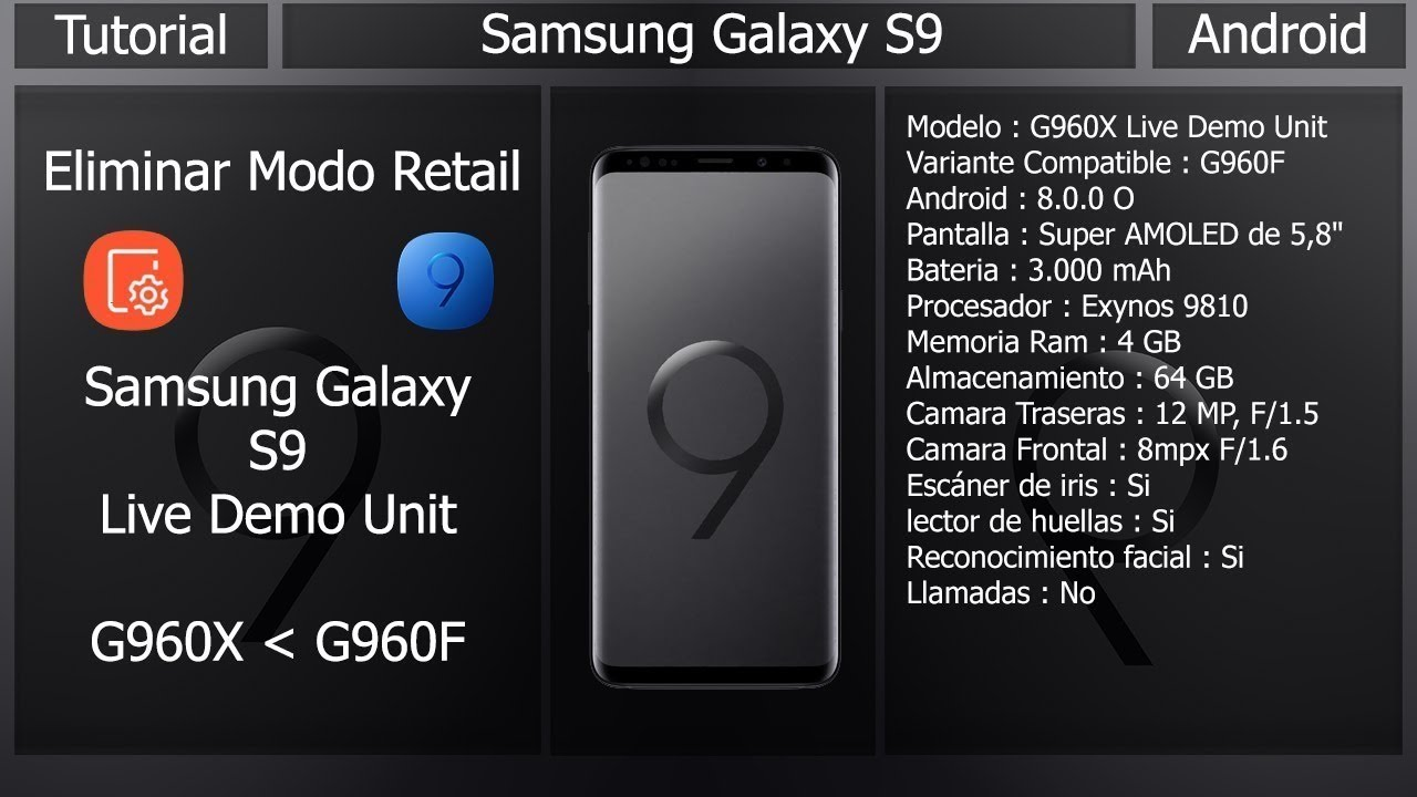 Samsung Galaxy S9 (G960X) - Delete Retail Mode