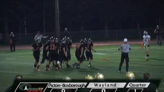 Colonials Football at Wayland 10/5/12