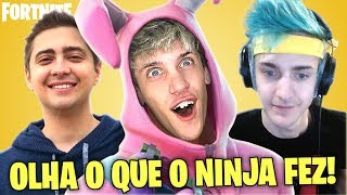 Top 5 JOGADAS de Youtuber/Streamers no FORTNITE!