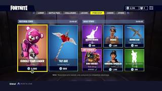 CUDDLE TEAM LEADER & TAT AXE; Featured Item Shop Update in FORTNITE #19/4/18