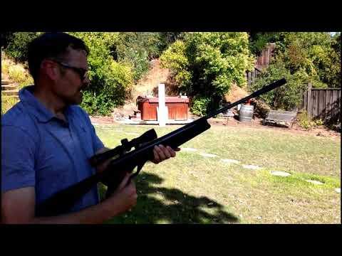 Shooting a Crosman Nitro Piston Break Barrel Air Rifle