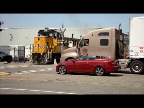 Union Pacific  LOA32 delivery and Car Shuffling at FXI Anaheim (Formerly Fomex)