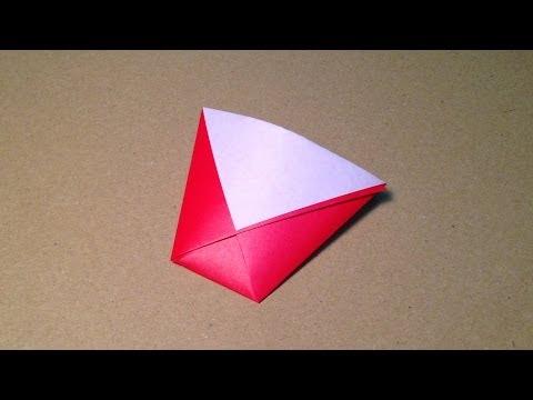 【折り紙(おりがみ)】 実用 紙コップの折り方 作り方 簡単
