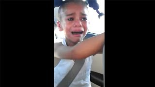 spoiled kid throws temper tantrum because she can't have McDonalds..