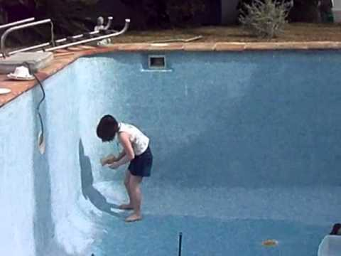 Pool grouting - YouTube